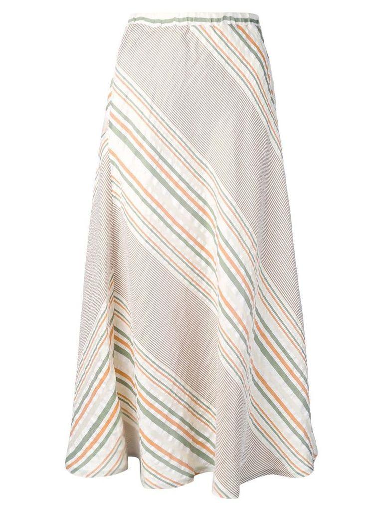 Roberto Collina striped midi skirt - Neutrals