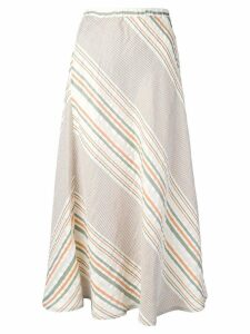 Roberto Collina striped midi skirt - Neutrals