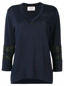 Snobby Sheep mesh panel blouse - Blue