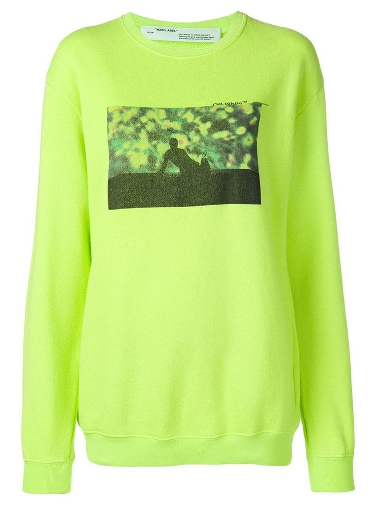 Off-White graphic design sweater - Yellow