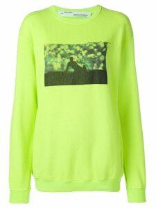 Off-White graphic design sweater - Yellow