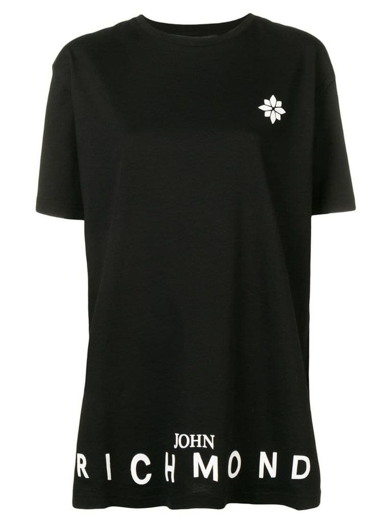 John Richmond logo print T-shirt - Black
