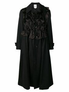 Comme Des Garçons Noir Kei Ninomiya drawstring detail coat - Black