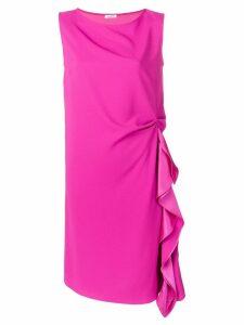 P.A.R.O.S.H. draped detail midi dress - Pink
