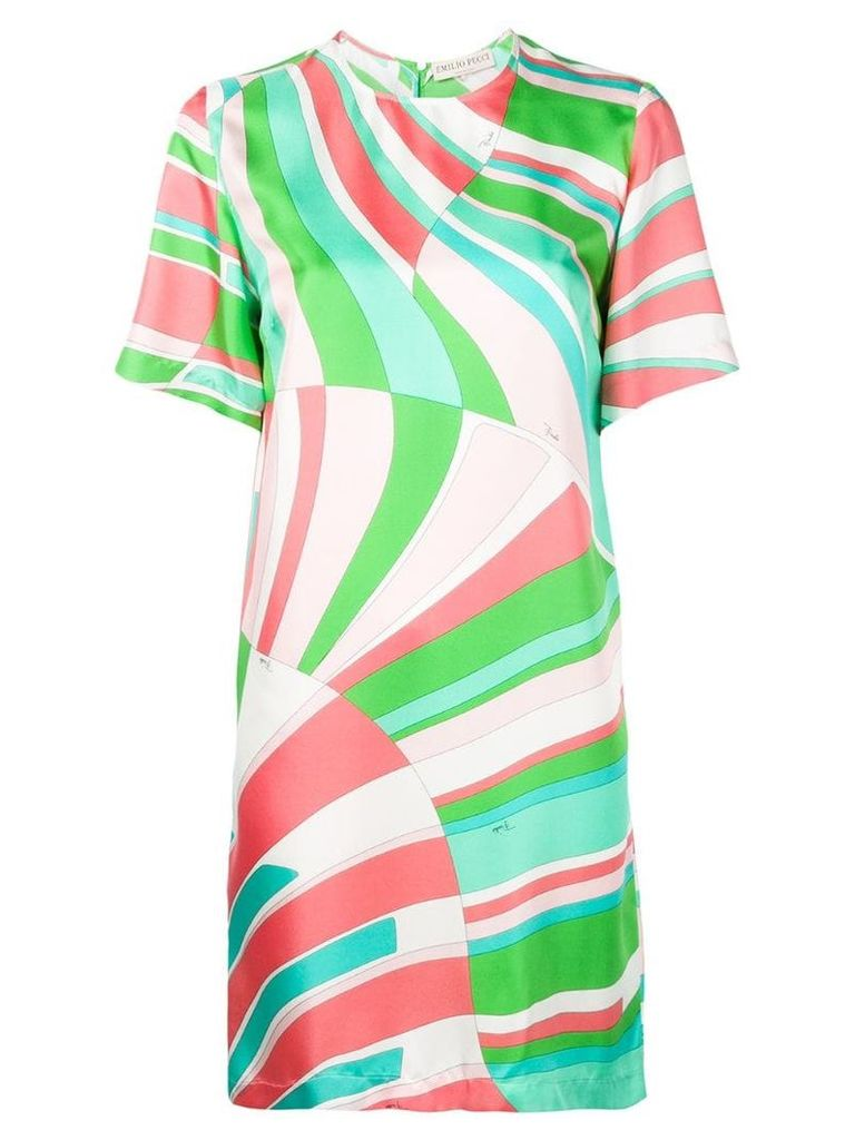 Emilio Pucci colour block T-shirt dress - Green