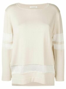 Snobby Sheep mesh panel blouse - Neutrals
