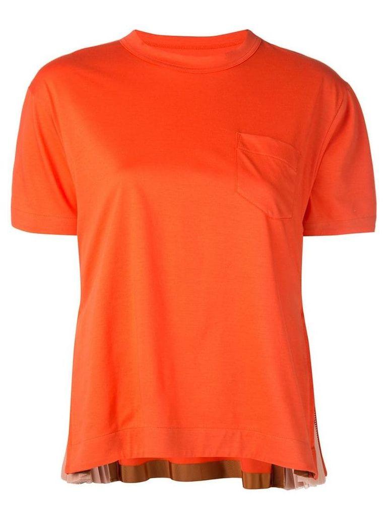 Sacai chest pocket T-shirt - Orange