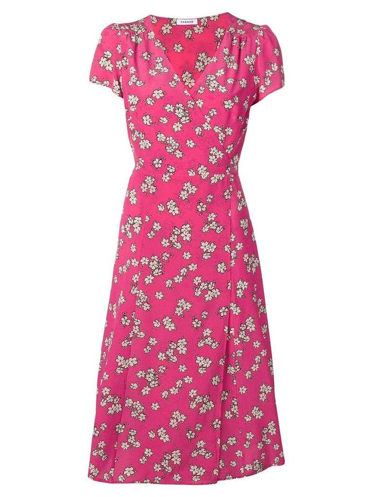 P.A.R.O.S.H. floral print wrap dress - Pink