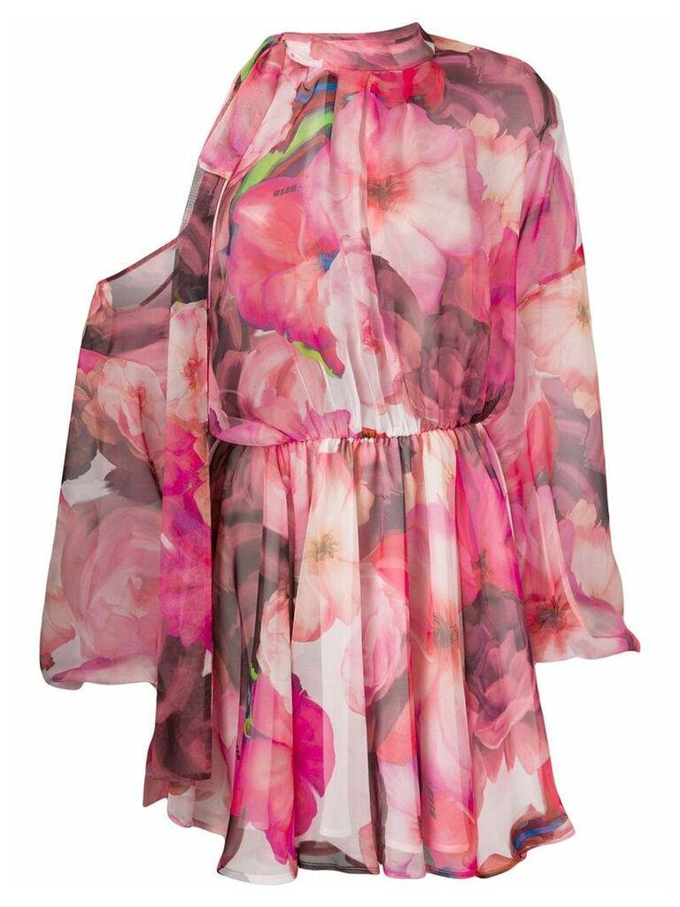 MSGM floral print dress - Pink