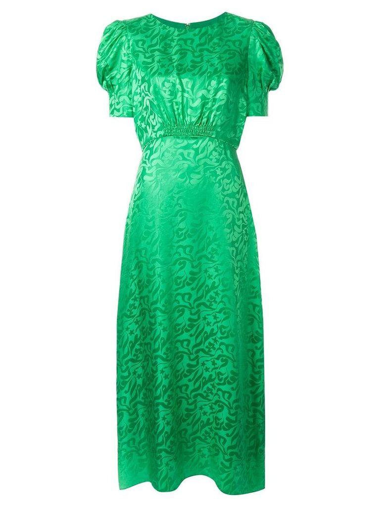 Saloni Bianca jacquard dress - Green