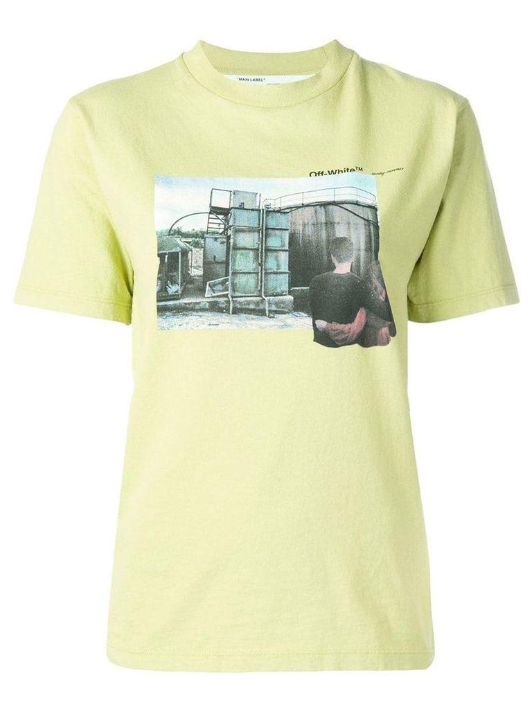 Off-White graphic design T-shirt - Green