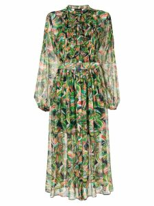 Saloni Raquel dress - Green