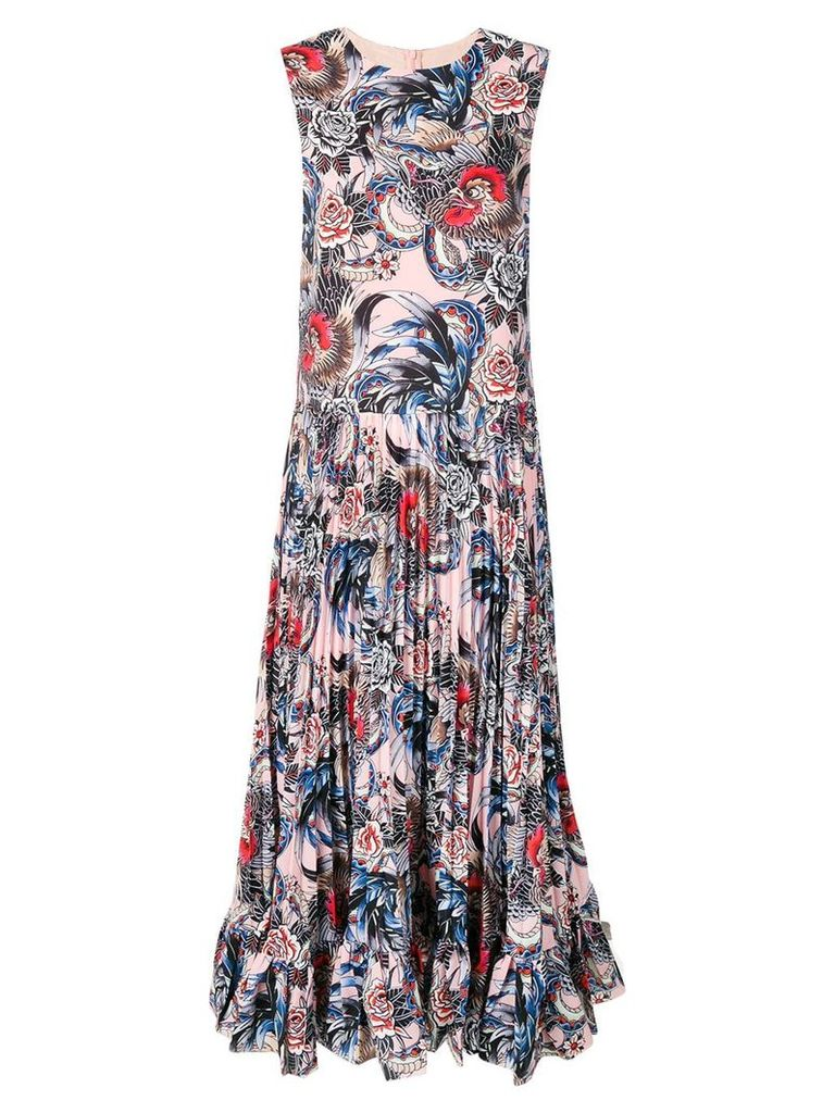 Red Valentino Wild pride printed dress - Blue