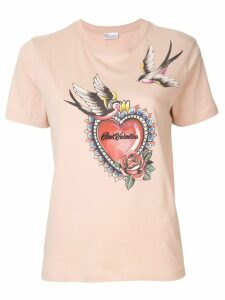 Red Valentino tattoo print T-shirt - Pink