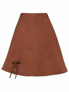Prada satin poodle skirt - Brown