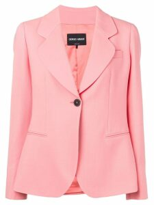 Giorgio Armani single breasted blazer - Pink