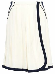 Prada Pleated skirt with contrasting trim - White