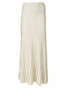 Sonia Rykiel lurex striped skirt - Neutrals
