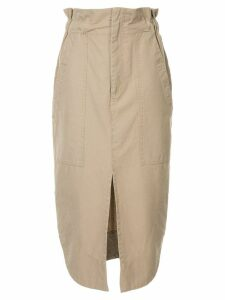 Bassike pique canvas workwear skirt - Brown