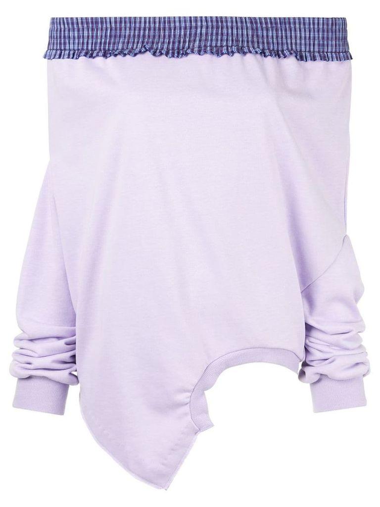 Ground Zero dropped shoulder upside-down sweatshirt - Purple