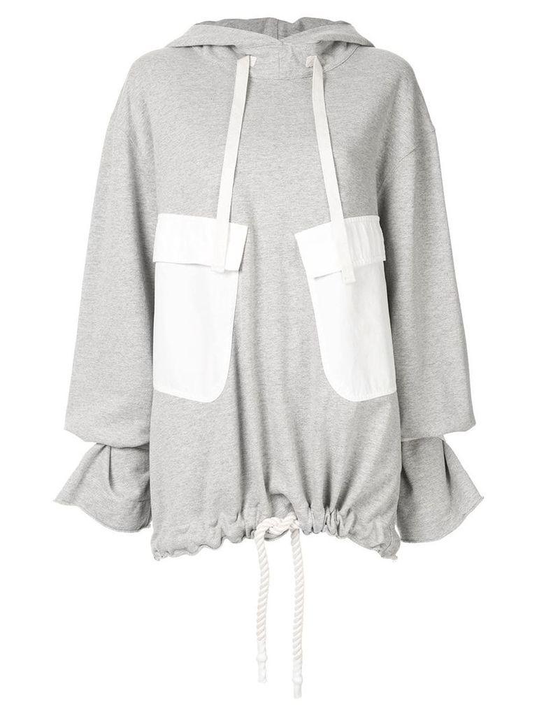 Bassike oversized fleece hoodie - Grey