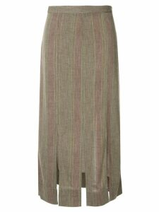Bassike stripe gauze pleat skirt - Multicolour