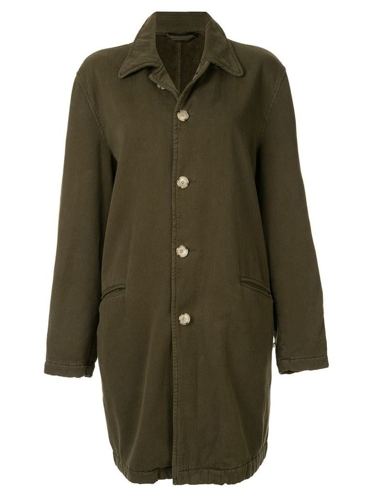 Bassike washed raincoat - Green