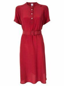 Aspesi short-sleeve shift dress - Red