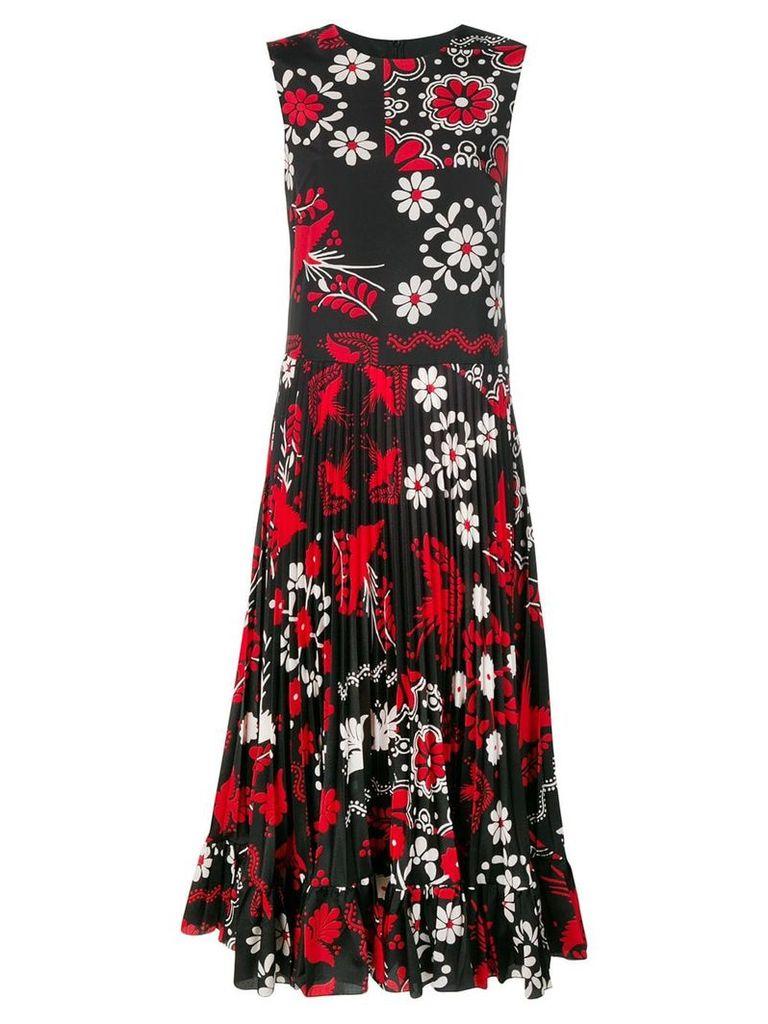 Red Valentino Decorated Terrace printed dress - Black