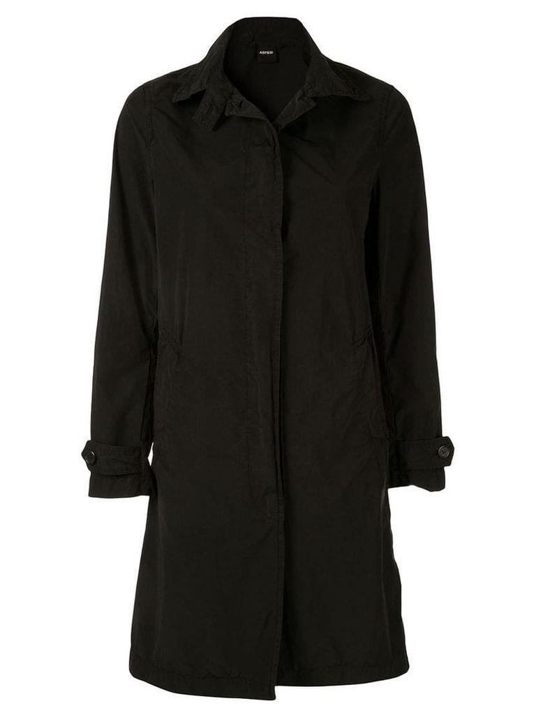 Aspesi single-breasted fitted coat - Black
