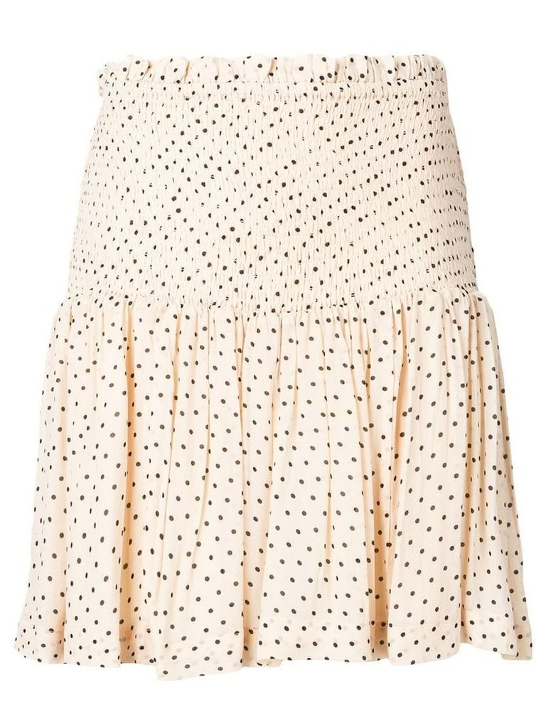 Ganni elasticated waist skirt - Neutrals