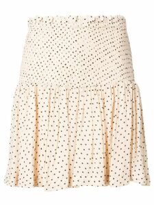 Ganni elasticated waist skirt - Neutrals