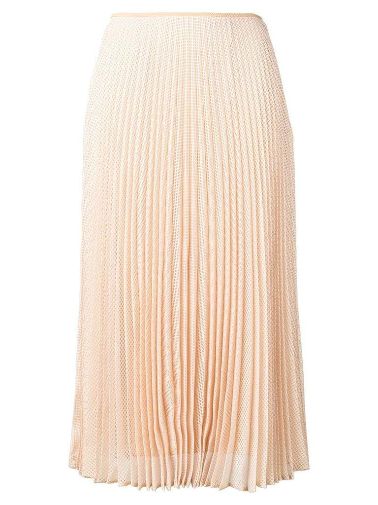Fendi pleated midi skirt - Neutrals
