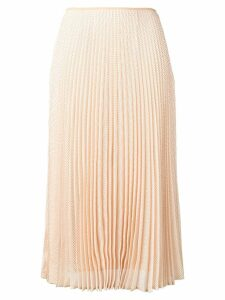 Fendi pleated midi skirt - Neutrals