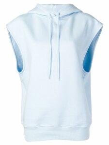 Courrèges sleeveless hoodie - Blue