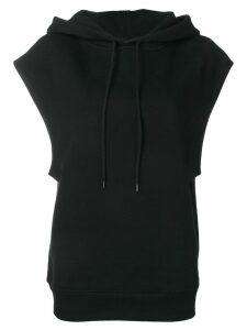 Courrèges sleeveless hoodie - Black