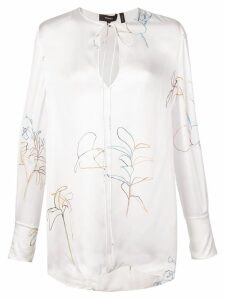 Theory printed fluid tunic - White