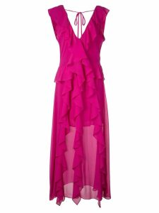 Misa Los Angeles ruffled long dress - Pink