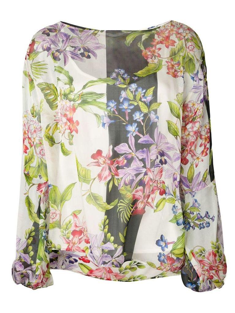Liu Jo satin floral blouse - White