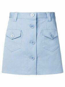 Red Valentino button through mini skirt - Blue