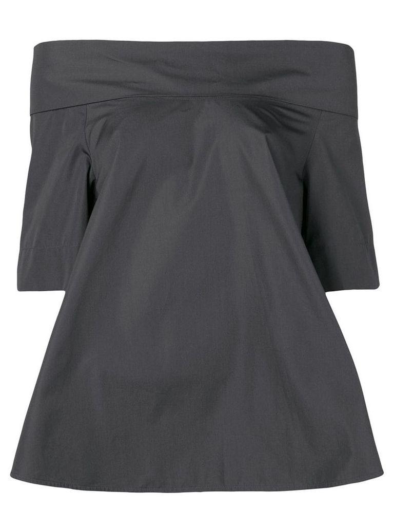 Aspesi boat neck structured blouse - Grey