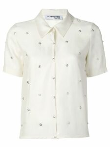 Courrèges studded button shirt - White