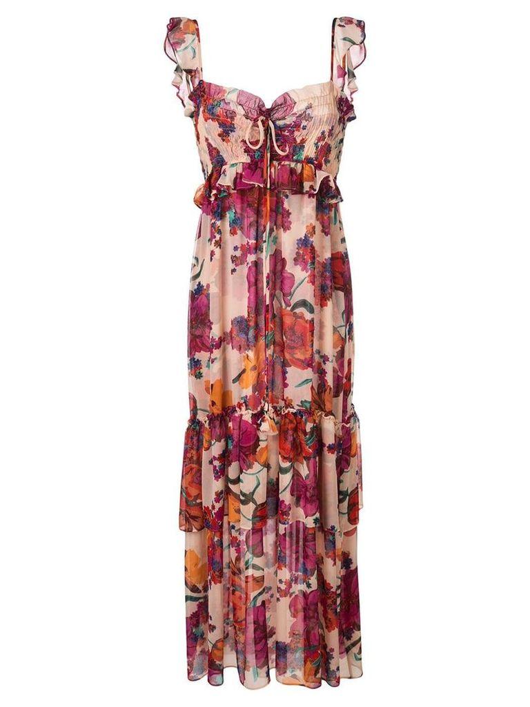 Misa Los Angeles ruffled empire dress - Pink