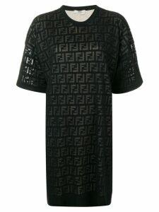 Fendi inlaid FF logo T-shirt dress - Black