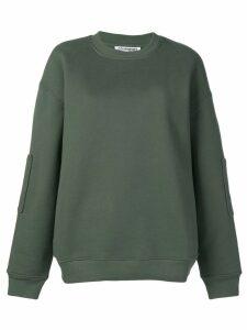 Courrèges oversized logo sweatshirt - Green