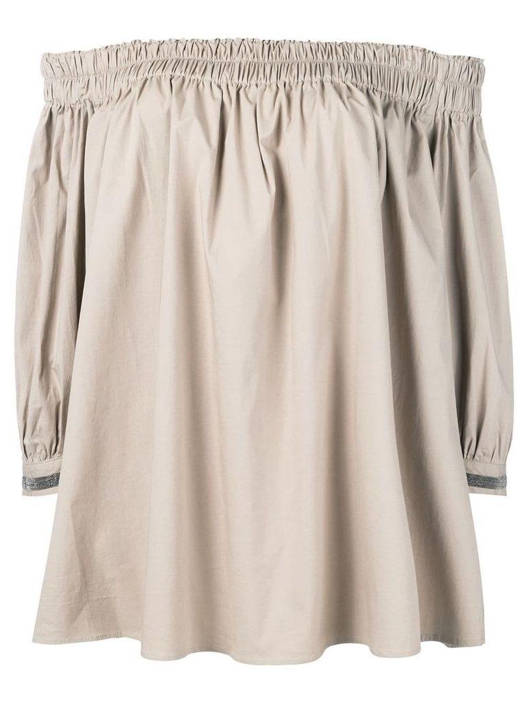 Fabiana Filippi off shoulder blouse - Neutrals