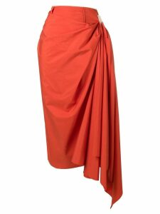 Marni asymmetric midi skirt - Orange