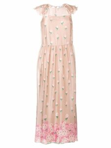 Red Valentino floral print maxi dress - Pink