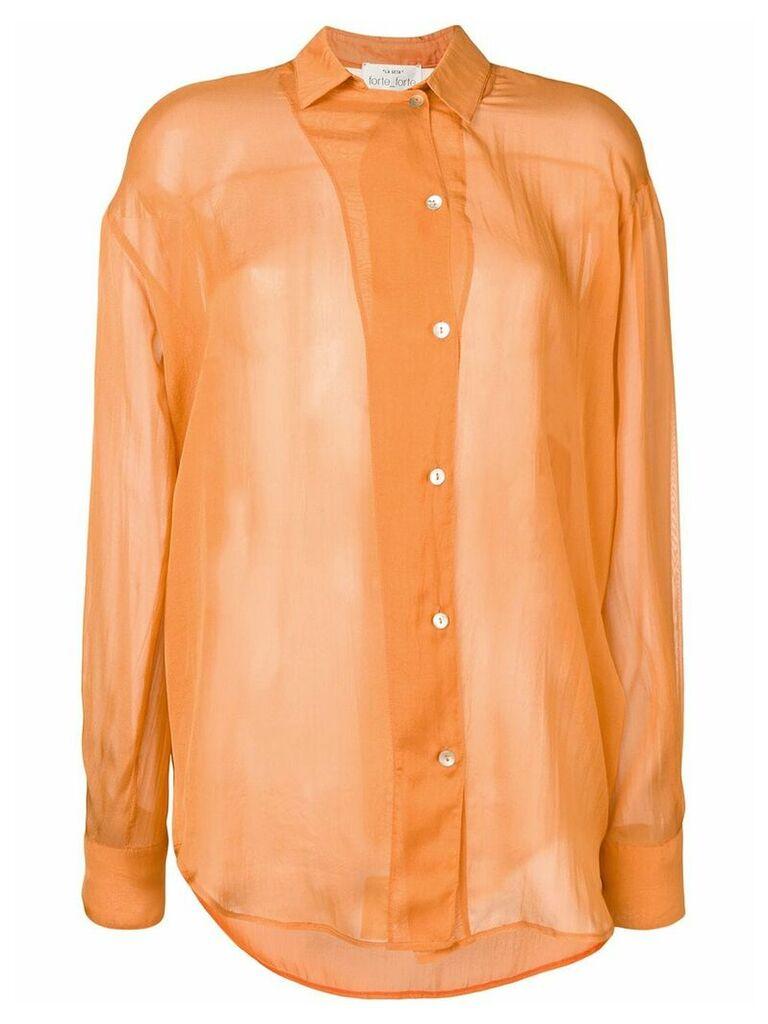 Forte Forte sheer shirt - Orange