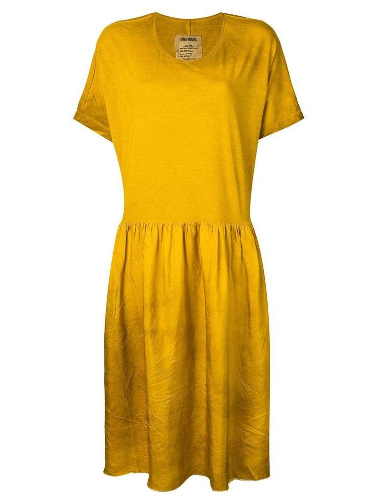 Uma Wang tiered jersey dress - Yellow